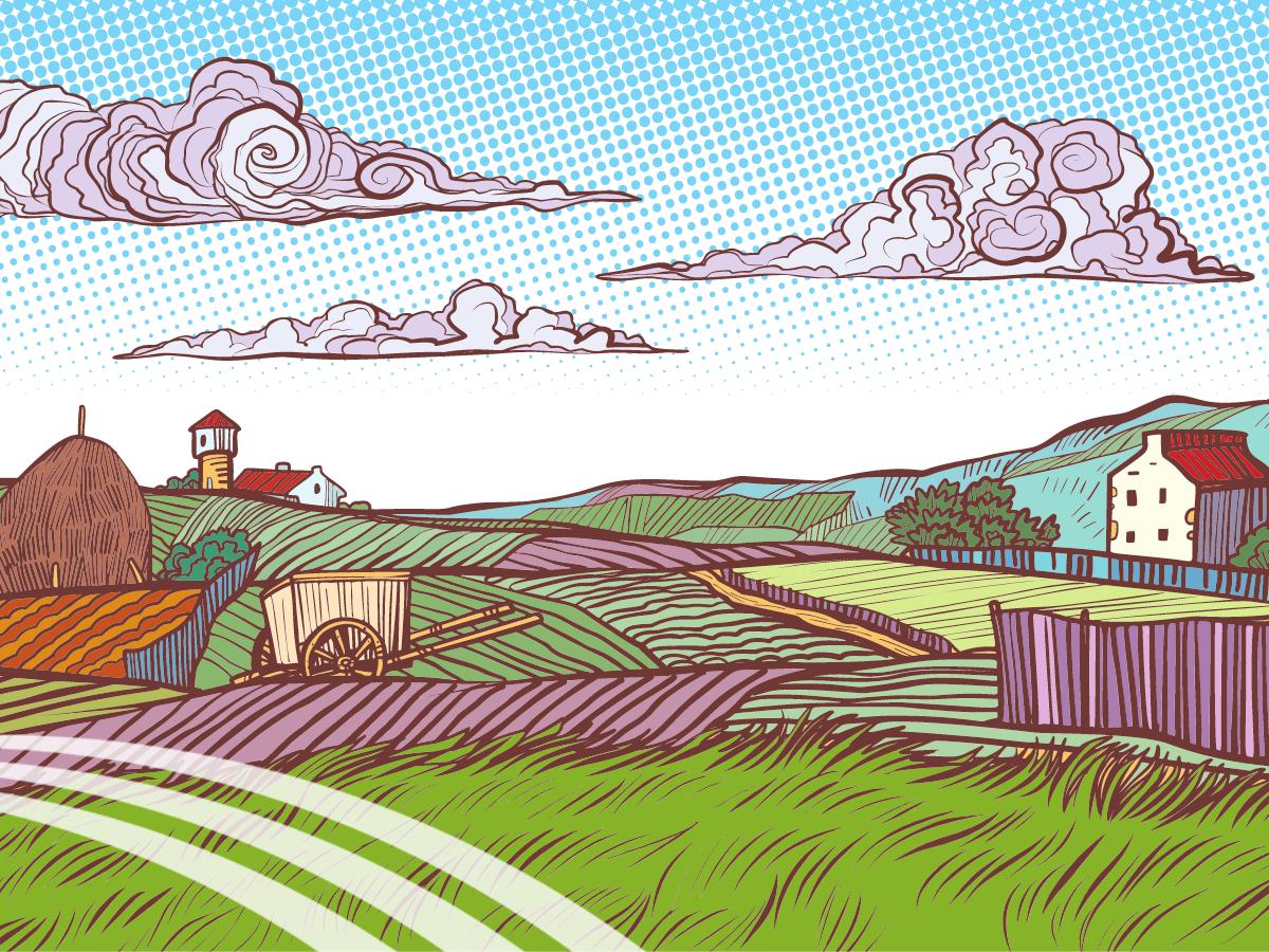 dibujo granja animales